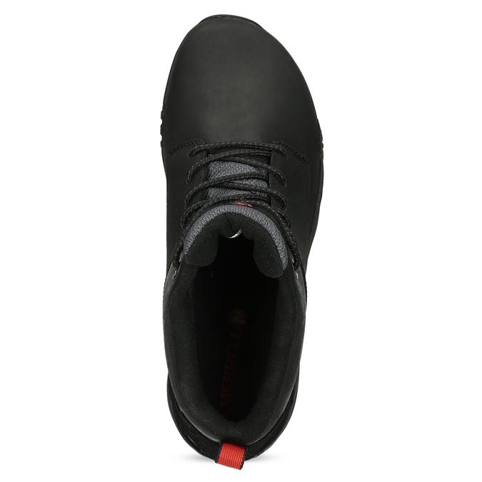 Kožená pánská kotníčková obuv outdoorová merrell, černá, 806-6102 - 17