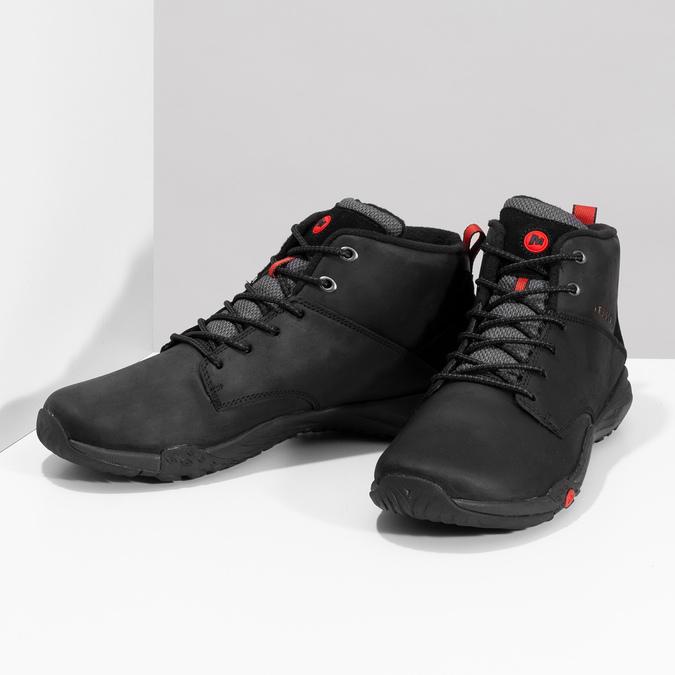 Kožená pánská kotníčková obuv outdoorová merrell, černá, 806-6102 - 16