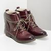 Kožená dámská kotníčková obuv se zateplením bata, červená, 596-5702 - 26