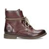 Kožená dámská kotníčková obuv se zateplením bata, červená, 596-5702 - 19