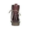 Kožená dámská kotníčková obuv se zateplením bata, červená, 596-5702 - 15