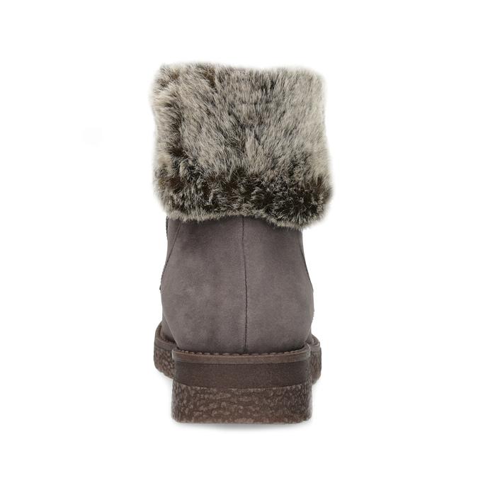 Kožená dámská zimní obuv s kožíškem bata, hnědá, 596-3704 - 15