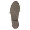 Kožená dámská kotníčková obuv se zateplením bata, červená, 596-5702 - 18