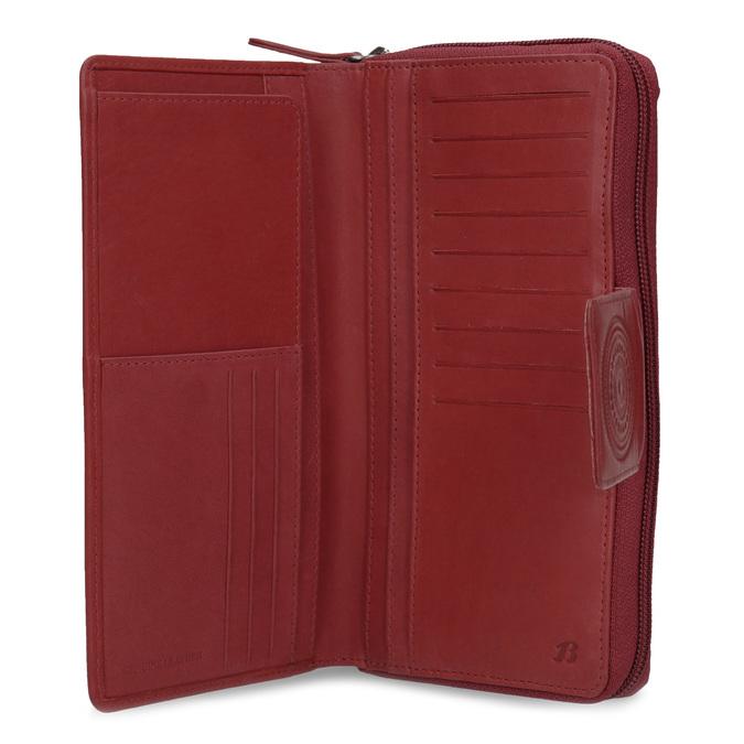 Kožená dámská peněženka s mandalou červená bata, červená, 944-5615 - 15