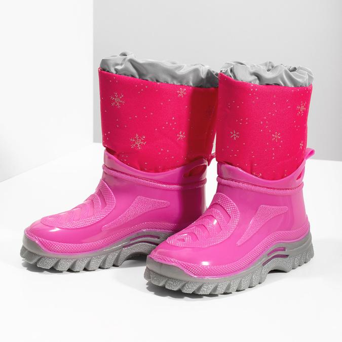 Růžové sněhule s vločkami mini-b, růžová, 292-5301 - 16