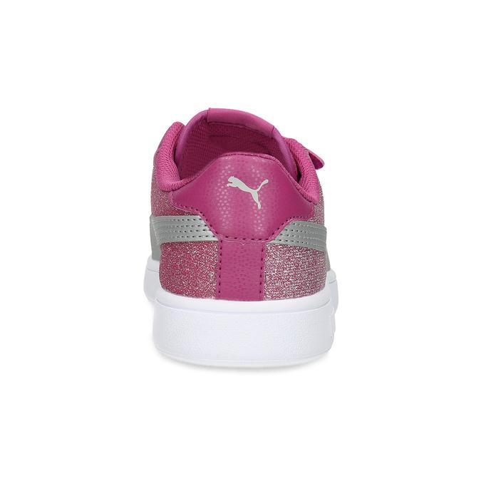 Růžové dětské tenisky na suché zipy puma, růžová, 301-5224 - 15