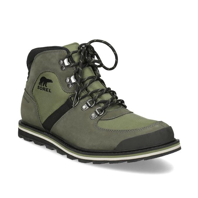 Pánská kotníková obuv se šněrováním sorel, zelená, 826-7003 - 13