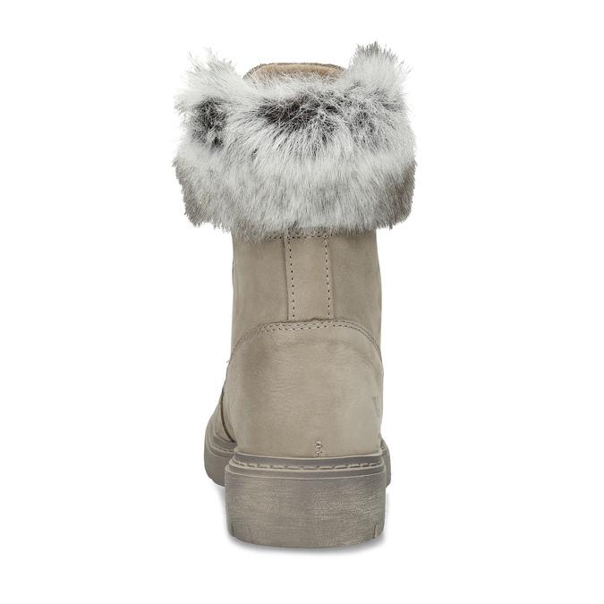 Béžové kožené dámské zimní kozačky weinbrenner, béžová, 596-2753 - 15