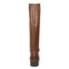 Hnědé kožené dámské kozačky bata, hnědá, 594-4676 - 15