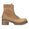 Dámská hnědá kožená kotníčková obuv weinbrenner, hnědá, 696-3668 - 19