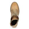 Dámská hnědá kožená kotníčková obuv weinbrenner, hnědá, 696-3668 - 17