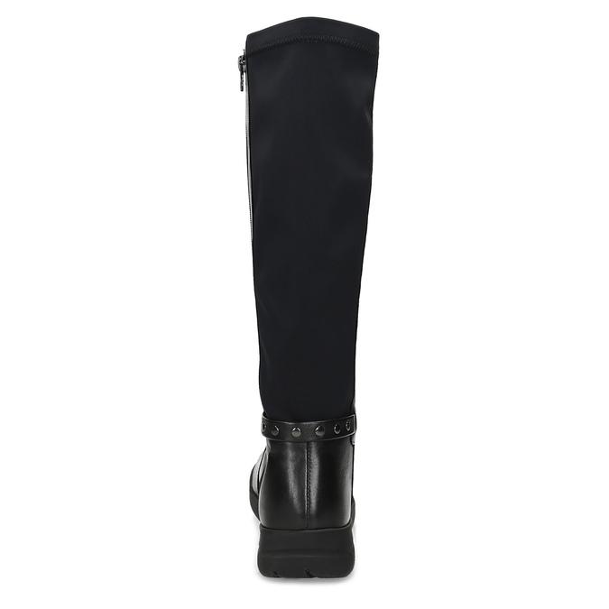 Dámské kožené černé kozačky bata, černá, 594-6684 - 15