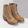 Dámská hnědá kožená kotníčková obuv weinbrenner, hnědá, 696-3668 - 26