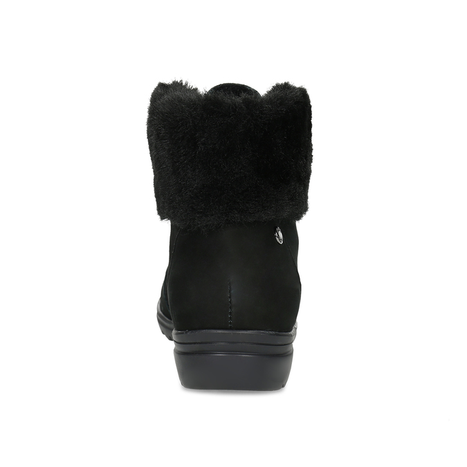 Kotníčková dámská kožená obuv comfit, černá, 596-6711 - 15