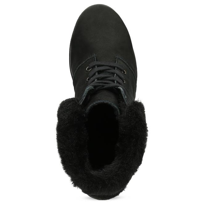 Kotníčková dámská kožená obuv comfit, černá, 596-6711 - 17