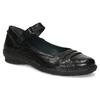 Kožené černé baleríny s páskem bata, černá, 526-6664 - 13