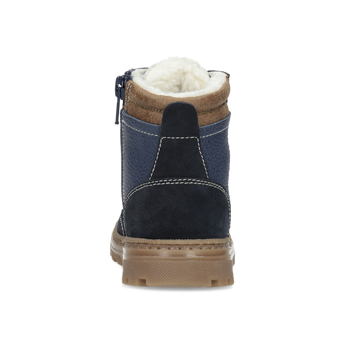 Dětské kožené zimní boty modré mini-b, modrá, 294-9601 - 15