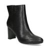 Černé kotníčkové kozačky na stabilním podpatku bata-b-flex, černá, 791-6615 - 13