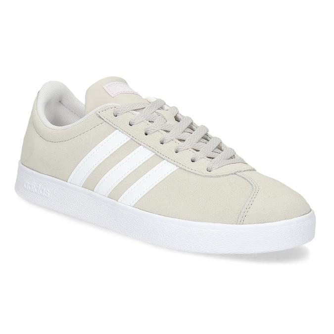 Béžové dámské kožené tenisky adidas, béžová, 503-8379 - 13