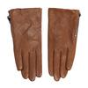 Dámské kožené rukavičky prošívané hnědé bata, hnědá, 904-3108 - 26