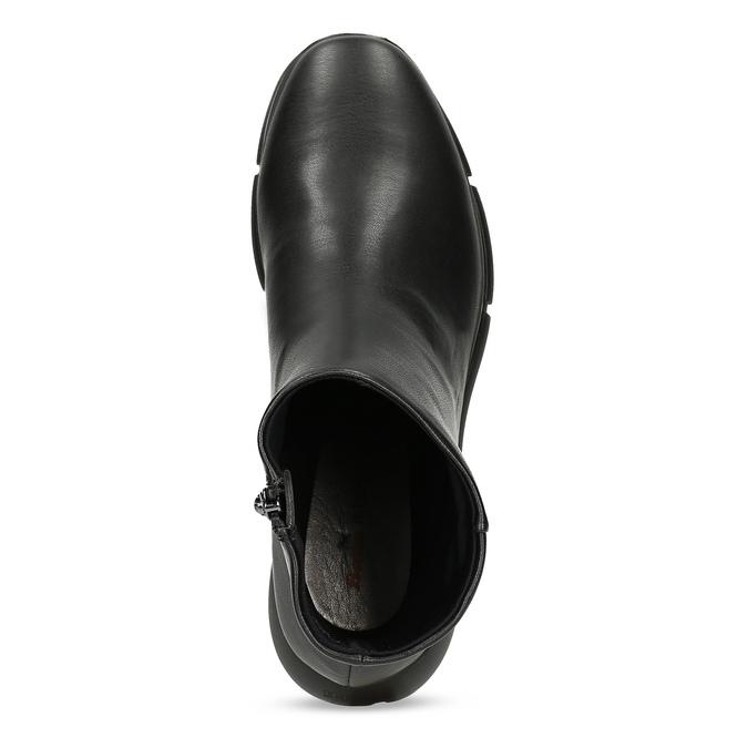 Dámská černá kotníčková obuv hladká bata-b-flex, černá, 591-6636 - 17