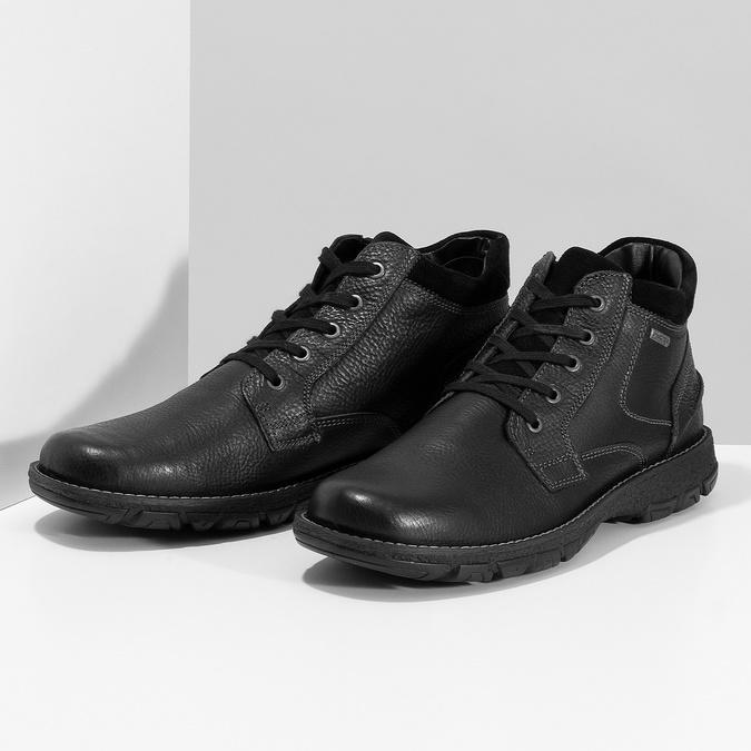 Pánské kožené zimní boty bata, černá, 894-6715 - 16