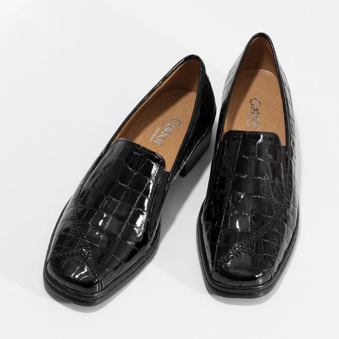 Dámské mokasíny z lakované kůže gabor, černá, 618-6048 - 16