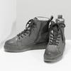 Kotníčková dámská kožená zimní obuv bata, šedá, 596-2713 - 16