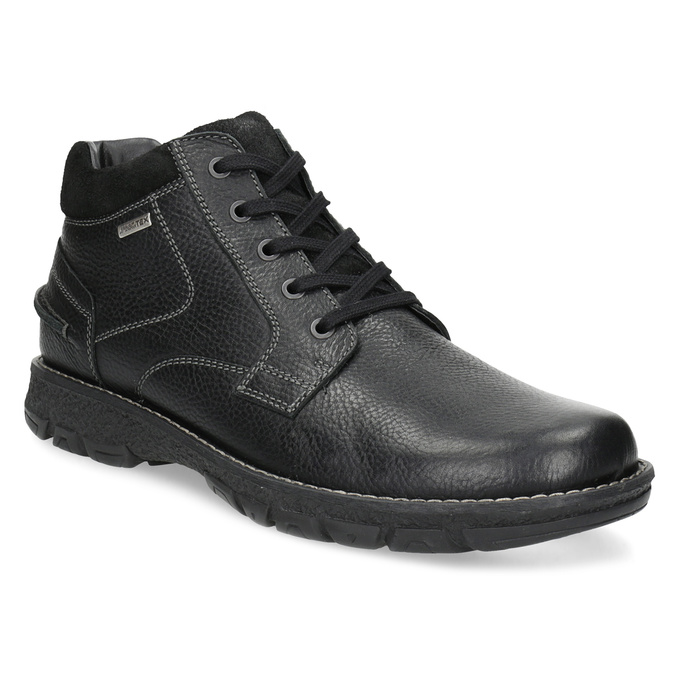 Pánské kožené zimní boty bata, černá, 894-6715 - 13