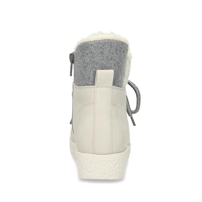 Dámská zimní obuv s kožíškem bata-red-label, béžová, 591-1637 - 15
