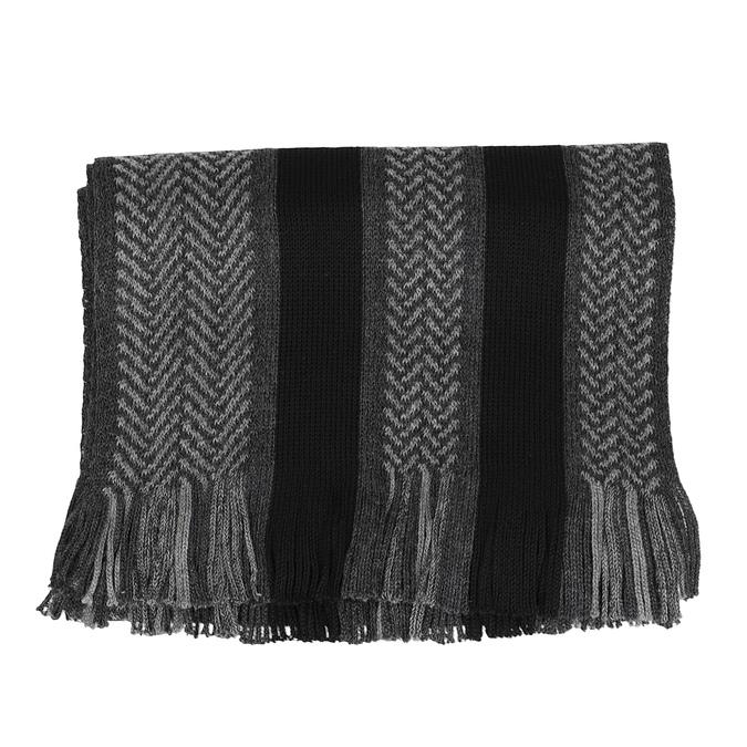 Baťa Pánská šedo-černá pruhovaná šála - Šátky a šály  c3209ad183