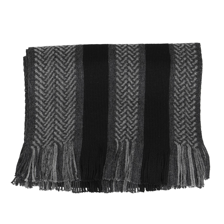 16bb09cf57e Baťa Pánská šedo-černá pruhovaná šála - Šátky a šály