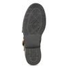 Hnědá kožená kotníková obuv s přezkami bata, hnědá, 596-4735 - 18