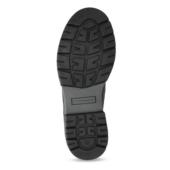 Dámská kožená zimní obuv s kožíškem weinbrenner, černá, 596-6748 - 18