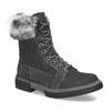 Dámská kožená zimní obuv s kožíškem weinbrenner, černá, 596-6748 - 13