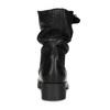 Kožené dámské kozačky s přezkou bata, černá, 594-6719 - 15