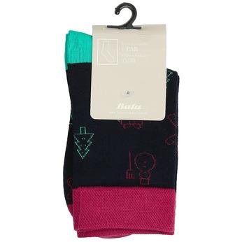 Unisex ponožky s vánočními motivy bata, černá, 919-9775 - 13