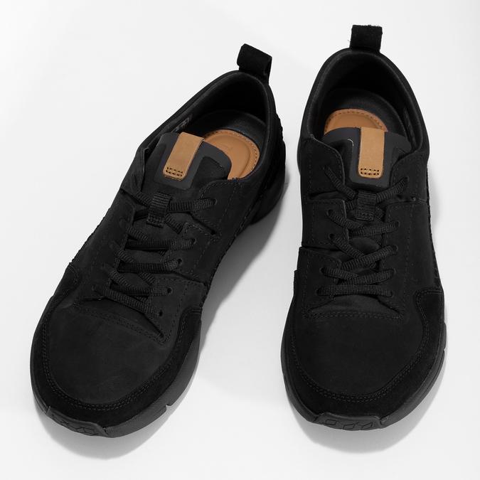 Černé pánské kožené tenisky clarks, černá, 824-6078 - 16