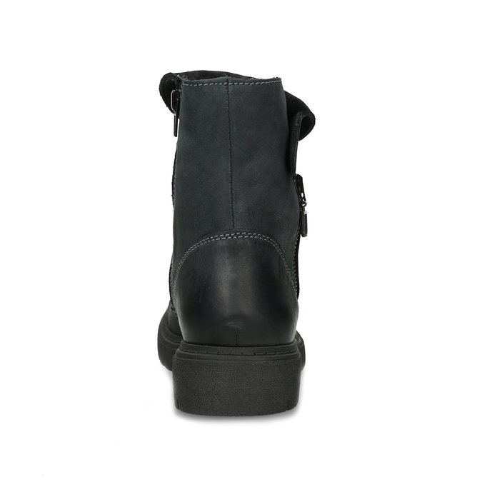 Dámská kožená zimní obuv s prošitím weinbrenner, černá, 596-6751 - 15