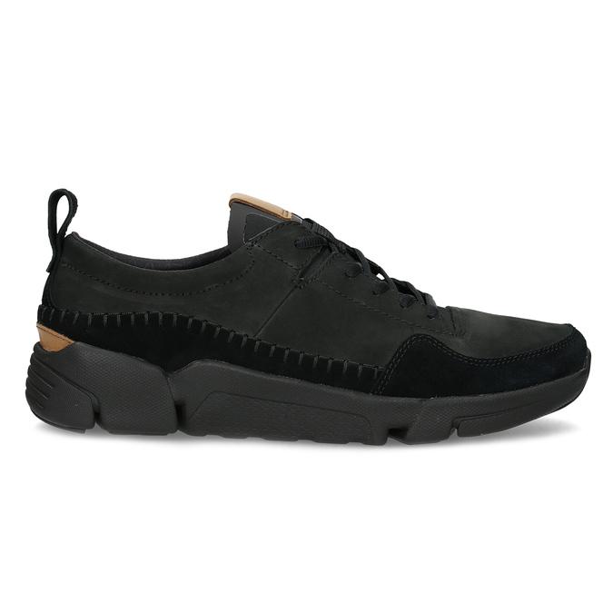 Černé pánské kožené tenisky clarks, černá, 824-6078 - 19