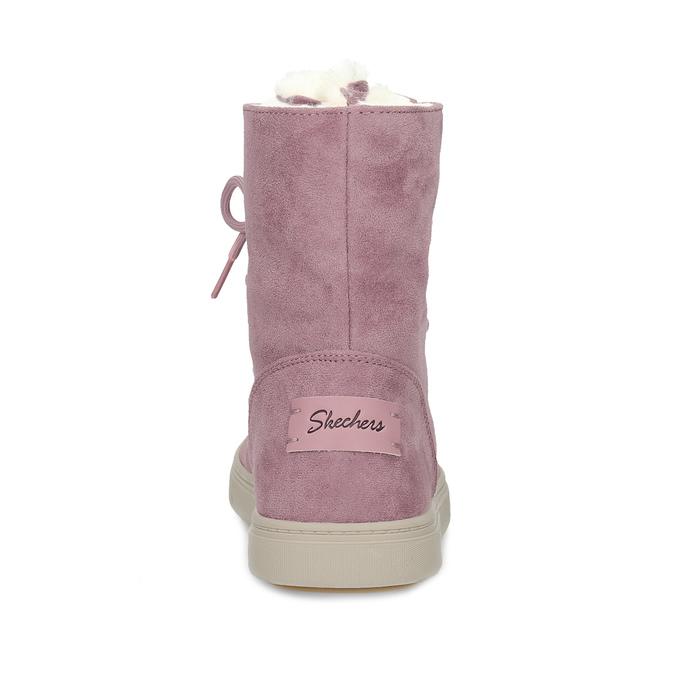 24f7f8c5c7f Skechers Dámská růžová zimní obuv se zateplením - Bez podpatku
