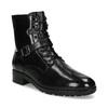 Dámská kožená kotníčková obuv s vysokým šněrováním hogl, černá, 524-6064 - 13