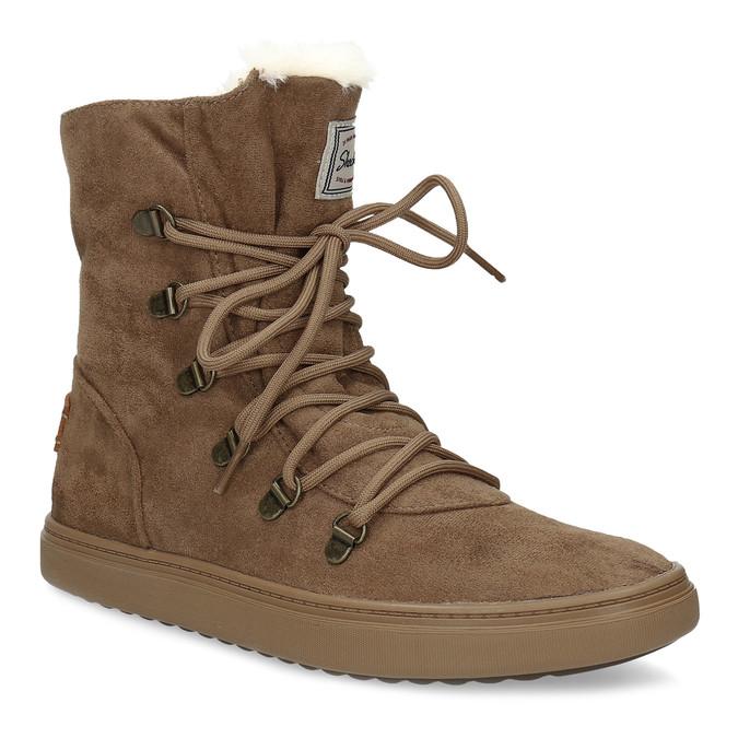 Skechers Hnědá dámská zimní obuv se zateplením - Bez podpatku  648a8e3af1