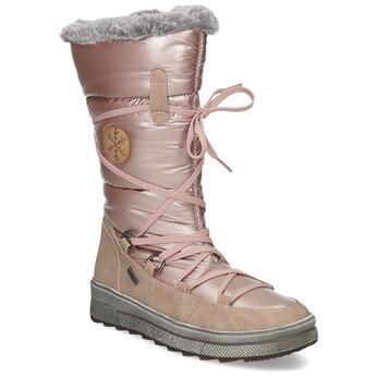 Dámské zimní sněhule zlaté bata, růžová, 599-5622 - 13