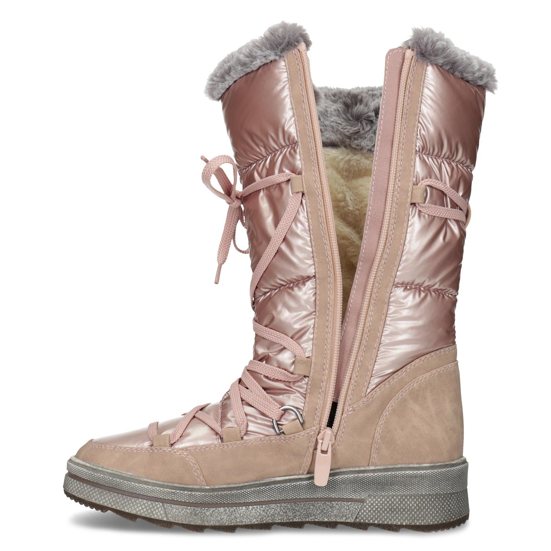 98aaf8be836d3 ... Dámské zimní sněhule zlaté bata, růžová, 599-5622 - 17 ...