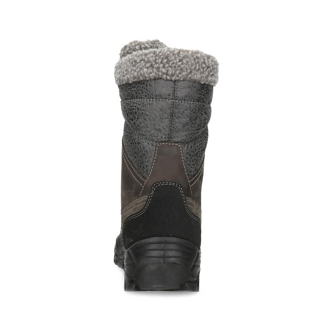 Pánské zimní sněhule s kožíškem weinbrenner, hnědá, 896-4730 - 15