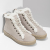 Kožená kotníčková zimní obuv s kožíškem weinbrenner, béžová, 596-8730 - 26