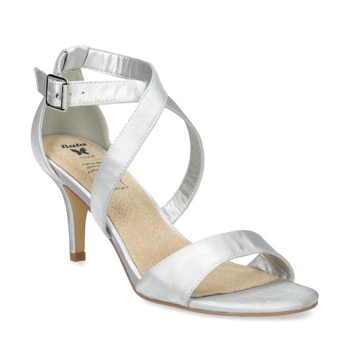 Insolia Stříbrné sandály na jehlovém podpatku - Všechny boty  42595d1445