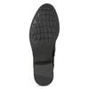 Černé dámské kozačky s přezkou bata, černá, 691-6644 - 18