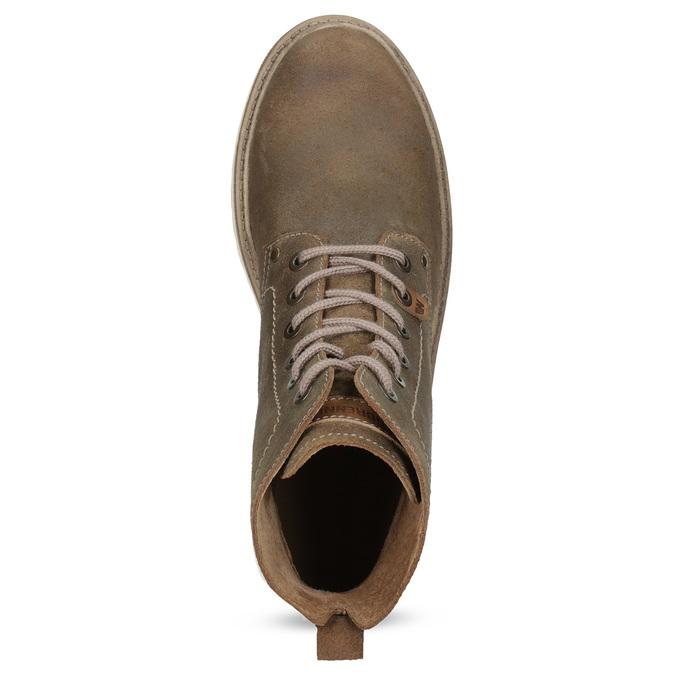 Pánská kotníčková obuv z broušené kůže weinbrenner, hnědá, 896-4734 - 17